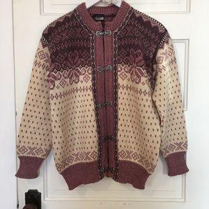 dale of norway Sweaters - Dale of Norway Vintage Snowflake WOOL Pink Sweater